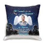 Love And Miss Gift For Angel Nurse Husband Printed Cushion Pillow Cover Custom Name