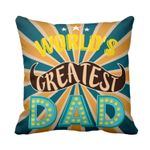 Glitzy Worlds Greatest Dad Gift For Daddy Printed Cushion Pillow Cover