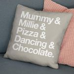 Favorite Things Cushion Pillow Cover Gift Custom Name