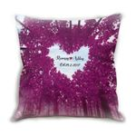Custom Name Cushion Pillow Cover Gift Heart Purple Tree