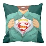Super Dad In My Heart Gift For Daddy Printed Cushion Pillow Cover