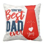 I Love Best Dad Red Tie Gift For Daddy Printed Cushion Pillow Cover