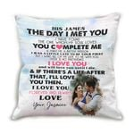 Love You Forever Custom Name Cushion Pillow Cover Gift For Husband