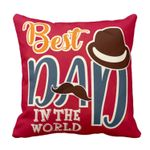 Chic Best Dad In The World Gift For Daddy Printed Cushion Pillow Cover