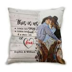 Custom Name Cushion Pillow Cover Gift This Is Us Cowboys Couple