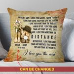 Custom Name And Numbers Cushion Pillow Cover Gift I Love You The Most Cowboys