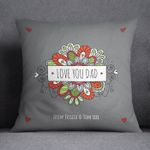 Love You Dad Plant Custom Name Gift For Dad Pillow Cover