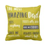 Love Me Unconditionally Gift For Daddy Printed Cushion Pillow Cover