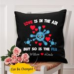 Custom Name Gift For Husband Printed Cushion Pillow Cover Love In The Air