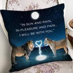 Printed Cushion Pillow Cover Gift For Wife Lion Be With You