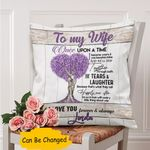 Custom Name Gift For Husband Printed Cushion Pillow Cover Tears And Laughter