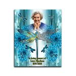 Blue Dragonflies Custom Photo And Name Matte Canvas Gift I Miss You