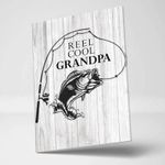 Reel Cool Granpa Gift For Dad Matte Canvas