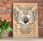 Custom Photo And Name Matte Canvas Gift For Grandpa When I Lost You