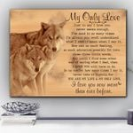 Wolf My Only Love Wild World Matte Canvas Gift