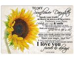 Protect Your Energy Sunflower Matte Canvas Mom Gift For Daughter
