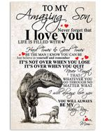 Matte Canvas Mom Gift For Son T Rex When You Lose