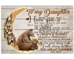 Bear On Waning Moon My Sunshine Matte Canvas Mom Gift For Daughter