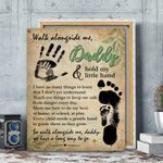 Walk Alongside Me Daddy Gift For Dad Matte Canvas