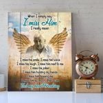 Custom Photo And Name Matte Canvas Gift For Dad When I Simply Say I Miss Him