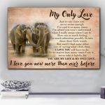 Elephant Love You More Matte Canvas Gift