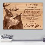 Deer Think About You Matte Canvas Gift
