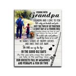 Matte Canvas Granddaughter Gift For Grandpa Fishing With Grandpa
