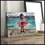 I Hope You Dance Gift For Daughter Matte Canvas