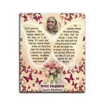 Custom Name And Numbers Matte Canvas Gift Never Forgotten Butterflies