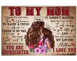 Matte Canvas Daughter Gift For Mom How Far I Go In Life
