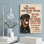 I Am Your Rottweiler Gift For Dog Lovers Custom Name And Photo Matte Canvas