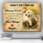 Don't Cry For Me Gift For Dog Lovers Custom Name And Photo Matte Canvas