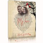 My Love Gift For Lover Custom Name And Photo And Number Matte Canvas