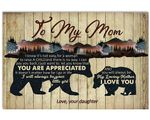 Always Be My Loving Mother Bear Matte Canvas Daughter Gift For Mom