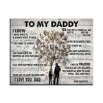 Daughter Gift For Daddy Matte Canvas All My Life To Learn Speak Talk And Walk