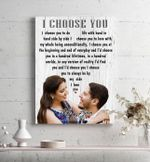 I Choose You Gift For Lover Custom Name And Number And Photo Matte Canvas