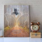 Your Wonderful Life Custom Name And Photo Matte Canvas Gift For Grandpa