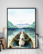 American English Coonhound On The Boat Matte Canvas Gift For Dog Lovers