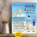 Walk Alongside Me Gift For Dad Custom Name And Photo Matte Canvas