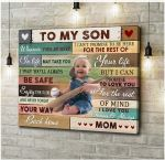 Gift For Son Love You For The Rest Of Mine Custom Photo Matte Canvas