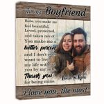 I Love You The Most Gift For Lover Custom Name And Photo Matte Canvas