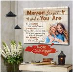 Never Forget Who You Are Custom Photo Matte Canvas