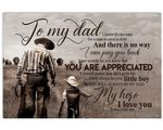 Son Gift For Dad Matte Canvas Cowboy You Are Appreciated