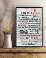 Thank For Being The Version I Love Gift For Wife Matte Canvas