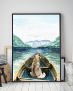 Alaskan Malamute On The Boat Matte Canvas Gift For Dog Lovers