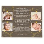 Love You For All Things You Are Custom Name And Photo Matte Canvas Gift For Mama
