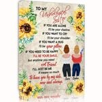 Gift For Soul Sister Custom Name Matte Canvas I'll Be Your Smile
