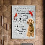 Poodle And Cardinal Bird A Visitor Matte Canvas Gift For Dog Lovers