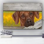 Rhodesian Ridgeback Magic Dream Yellow Flower Gift For Dog Lovers Matte Canvas