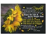 The Soul Of A Witch Sunflower Matte Canvas Mom Gift For Daughter